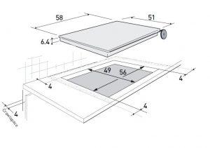Bản vẽ kỹ thuật bếp từ Brandt TI118B