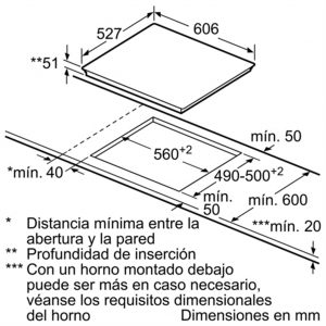 Bản vẽ kỹ thuật bếp từ BOSCH PID675DC1E