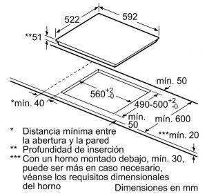 Bản vẽ kỹ thuật bếp từ BOSCH PUC631BB2E