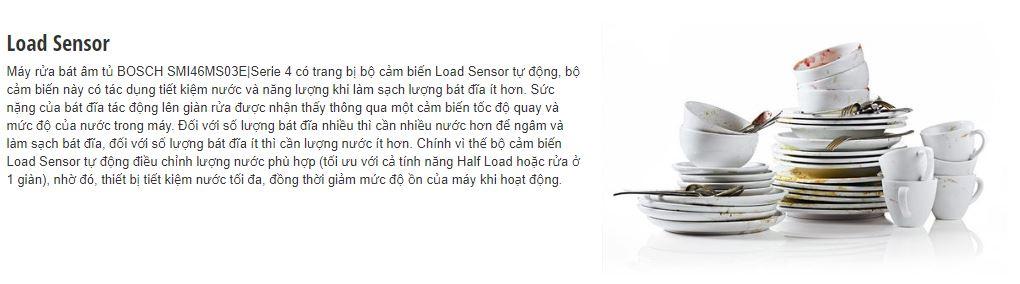 Bộ cảm biến Load Sensor của máy rửa bát BOSCH SMI46MS03E