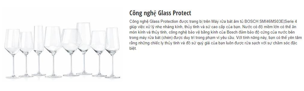 Công nghệ Glass Protect của máy rửa bát BOSCH SMI46MS03E