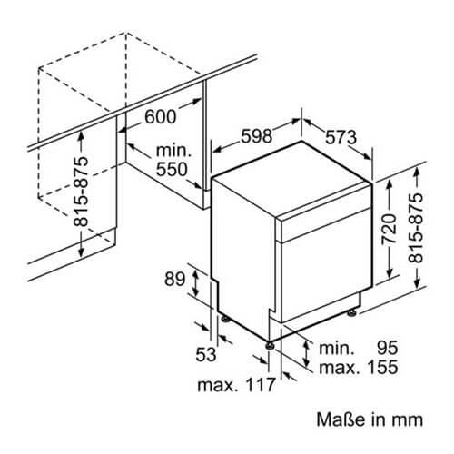 Kích thước máy rửa bát BOSCH SMU68TS02E