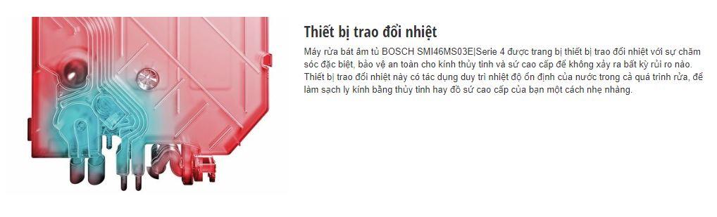 Thiết bị trao đổi nhiệt của máy rửa bát BOSCH SMI46MS03E