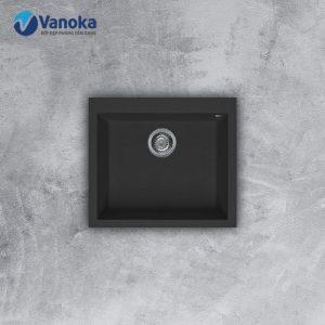 Chậu rửa bát đá NERO Malloca K-10540 màu đen