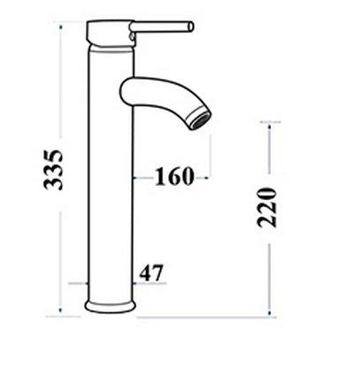 Vòi rửa mặt lavabo bằng đồng GCA20