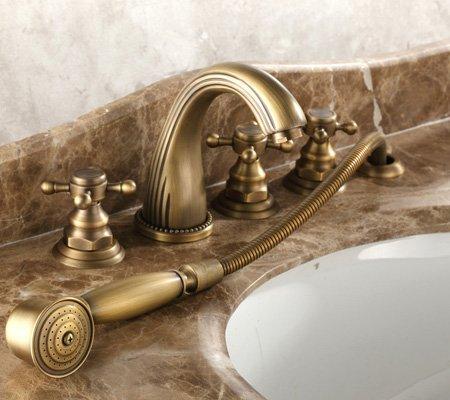 Bộ vòi xả bồn tắm bằng đồng 5 lỗ GCB04