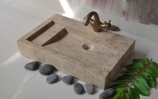 Chậu rửa mặt lavabo bằng đá tự nhiên R27V